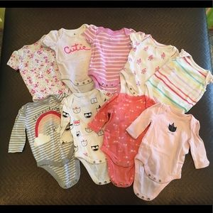 0-3 month, Baby Gap Girl bodysuits Lot of 8